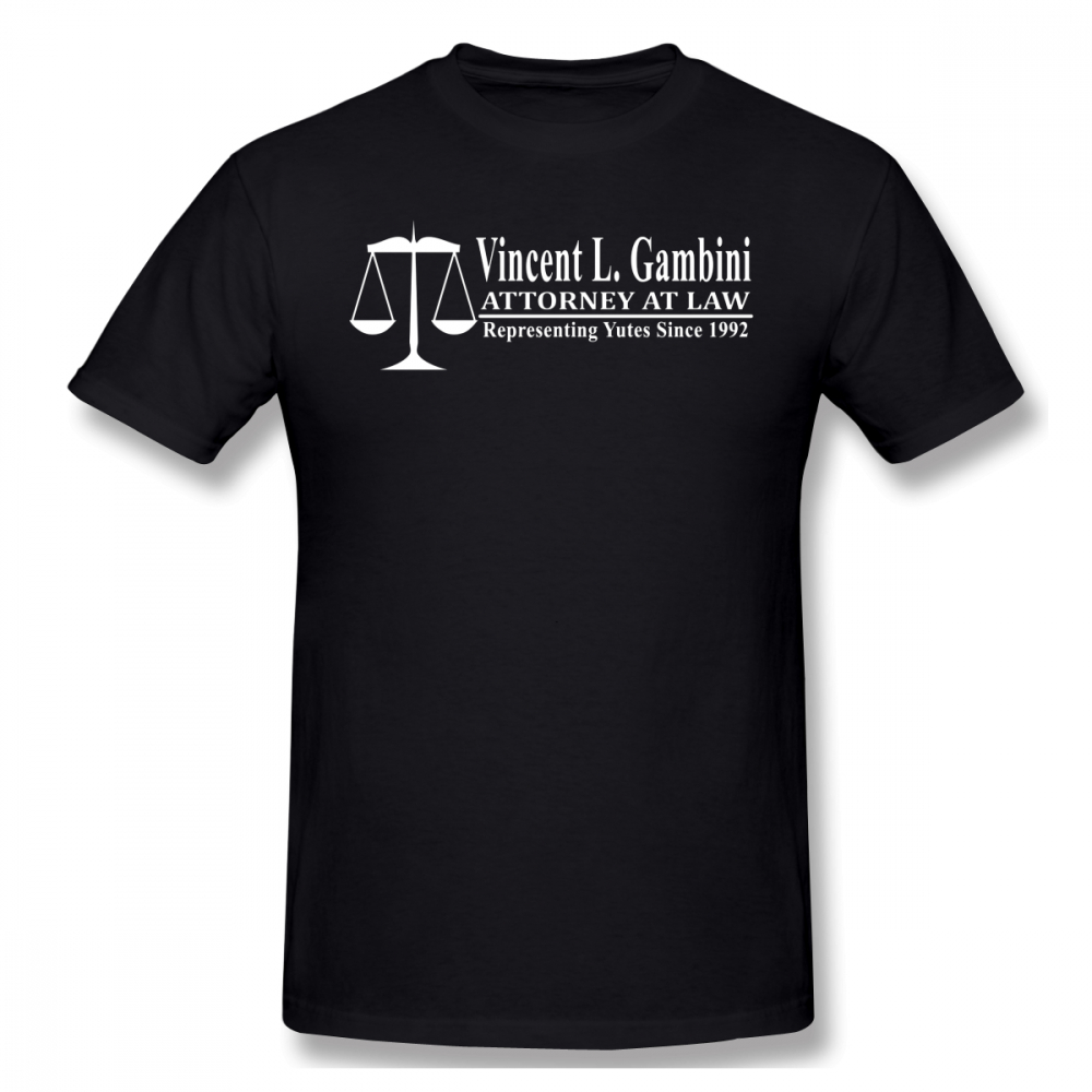 Avukat T Gömlek Benim Kuzenim Vinny Vincent Gambini Attorney At Law T-Shirt 4xl baskılı tişört Gömlek Erkekler Başar Pamuk Tshirt